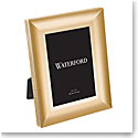 "Waterford Lismore Diamond Gold 5x7"" Metal Frame"