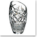 "Waterford Crystal, Jeff Leatham Fleurology Slant Cleo 14"" Crystal Vase"