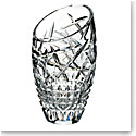 "Waterford Crystal, Jeff Leatham Fleurology Slant Cleo 10"" Crystal Vase"