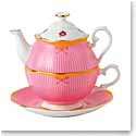 Royal Albert China Candy Sweet Stripe Tea For One