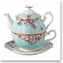 Royal Albert China Candy Sitting Pretty Tea For One