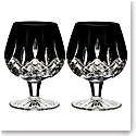 Waterford Crystal, Lismore Black Brandy, Pair