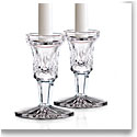 "Waterford Crystal, Lismore 4"" Footed Candlesticks Pair"