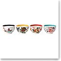 Wedgwood Wonderlust Fine Bone China Tea Bowl, Set of 4, Blue Pagoda, Camellia, Crimson Jewel and Yellow Tonqui