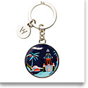 Wedgwood Wonderlust Key Ring, Blue Pagoda
