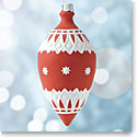 Wedgwood Neoclassical Teardrop Red Ornament