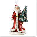 Royal Doulton 2018 Santa With Tree Christmas Ornament