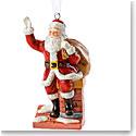 Royal Doulton 2018 Santa On A Chimney Christmas Ornament