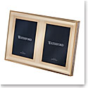 "Waterford Lismore Diamond Gold 5x7"" Double Invitation Frame"