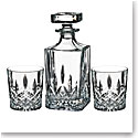Marquis by Waterford Crystal, Markham Square Crystal Decanter and Crystal DOF Tumbler Set