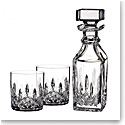 Waterford Crystal, Lismore Connoisseur Square Decanter and Tumbler Set