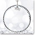 Waterford Crystal, 2017 Blank Disk Crystal Ornament