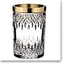 "Waterford Crystal, Lismore Reflection With Gold Band 8"" Crystal Vase"