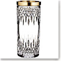"Waterford Crystal, Lismore Reflection With Gold Band 12"" Crystal Vase"