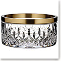 "Waterford Crystal, Lismore Reflection With Gold Band 8"" Crystal Bowl"