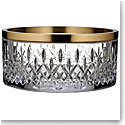 "Waterford Crystal, Lismore Reflection With Gold Band 10"" Crystal Bowl"