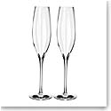 Waterford Crystal, Elegance Optic Classic Champagne Toasting Flutes, Pair