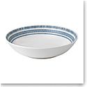 "Ed Ellen Degeneres Royal Doulton Cobalt Blue Chevron Pasta Bowl 9.4"""