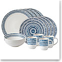Royal Doulton Ellen DeGeneres Cobalt Blue Chevron 16 Piece Set