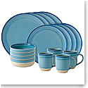 ED Ellen DeGeneres by Royal Doulton Polar Blue Brushed Glaze 16 Piece Set