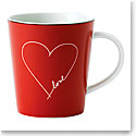 Royal Doulton Ellen DeGeneres Signature White Heart Mug, Single