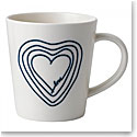 Royal Doulton Ellen DeGeneres Blue Love Mix Concentric Heart Mug, Single