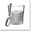 Waterford Crystal, Diamond Line Ice Bucket with Scoop