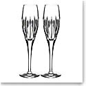 Waterford Crystal, Ardan Mara Toasting Flutes, Pair