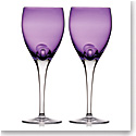 Waterford W Heather Wine Goblets, Pair