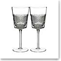 Waterford Diamond Line Wine Glass, Pair