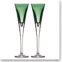 Waterford W Fern Toasting Flutes, Pair