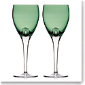Waterford W Fern Wine Goblets, Pair