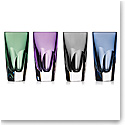 Waterford Crystal, W Mixed Colors Shot Crystal Glasses, Set of Four
