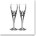 Waterford Crystal, Enis Crystal Champagne Crystal Flutes, Pair