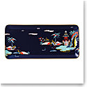 "Wedgwood Wonderlust Fine Bone China Tray Rectangular 13.4"" Blue Pagoda"