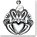 Waterford 2018 Clear Claddagh Ornament