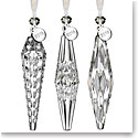 Waterford 2018 Icicle Ornament, Set of Three