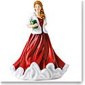 Royal Doulton 2018 Christmas Glad Tidings Pretty Woman Figurine