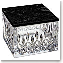 Waterford Crystal, Lismore Covered Box, With Marble Lid