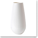 Wedgwood China White Folia Vase Tall 11.8""