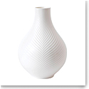 Wedgwood China White Folia Bulb Vase 9""