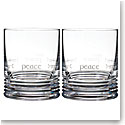Waterford Crystal, Ogham Peace DOF Tumblers, Pair