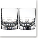 Waterford Crystal, Ogham Love DOF Tumbler, Pair