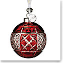 Waterford Crystal 2018 Ruby Ball Ornament