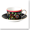 Wedgwood Wonderlust Fine Bone China Teacup and Saucer Set Oriental Jewel