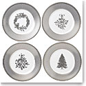 Wedgwood 2018 Winter White Christmas Salad Plate, Set of 4