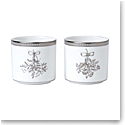 Wedgwood Winter White Christmas Votive, Pair