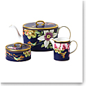 Wedgwood China Hummingbird 3 Piece Tea Set, Teapot, Sugar and Creamer