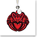 Waterford 2018 Claddagh Ornament, Red