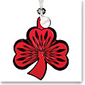 Waterford 2018 Shamrock Ornament, Red